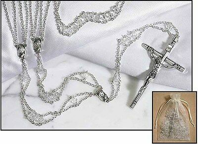 Austrian Crystal Lasso Wedding Rosary (TC730) NEW