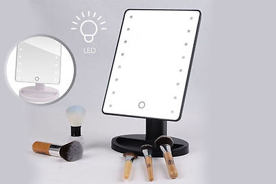 Touch LED Light Illuminated Make Up Cosmetic Bathroom Shaving Vanity Mirror UK