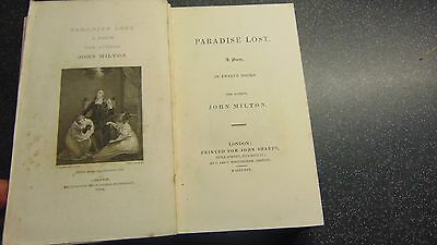1825 Leather Bound Paradise Lost A Poem In Twelve Books By John Milton