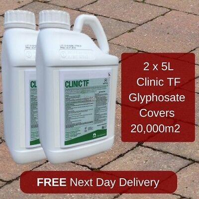 NON HAZARDOUS CLINIC TF 5L WEEDKILLER NEW VERSION OF CLINIC ACE x2
