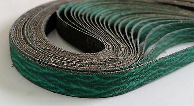 Airfile Sanding Belt, 1/2 in x 24, 120 Grit, Pack of 25