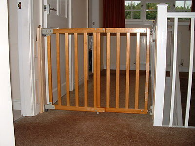 Mothercare - 63.5-106cm wide - wooden - wall fix safety 1st gate - 1/2 new price