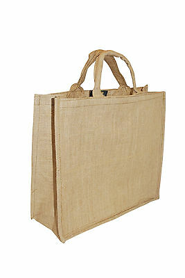 Hessian Jute Bag Large Strong Grocery Shopping Household Storage Water Resistant