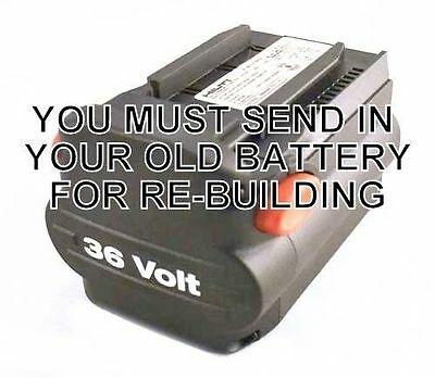 Re-Build/Re-Cell Service for Hilti B36 NiCd 36v Battery Pack+FREE RETURN SHIP