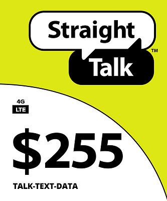Straight Talk $255 Unlimited 6 Months 8GB Service Card