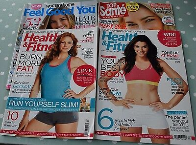 4 Womens Health And Fitness Magazines.top Sante/woman & Home/health & Fitness