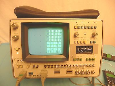 Hewlett Packard 1600A Logic State Analyzer w/ Clock & Six Digit Data Probes OEM