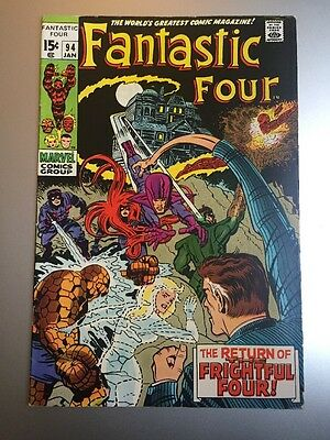 Fantastic Four 94. First Agatha Harkness. Cents. VF-