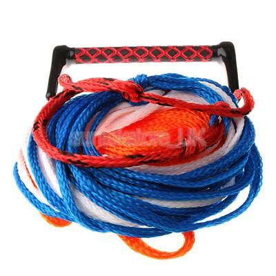 23m Water Ski Wakeboard Knee Board 3-Section Tow Rope Line with Handle Grip