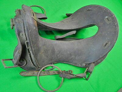 "Antique Old US 11"" Seat Saddle"