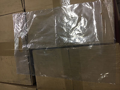 """Clear Plastic Bags 12"""" X 18"""" with Handle, 2 MiL with Vent Holes Box of 1000 New"""