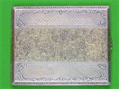 Antique Imperial Russian Russia German Sterling Silver Gold Cigarette Case