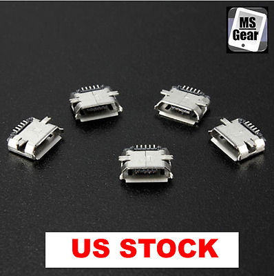 5pcs Micro USB Type B Female 5Pin SMT Socket Jack Connector PCB Board