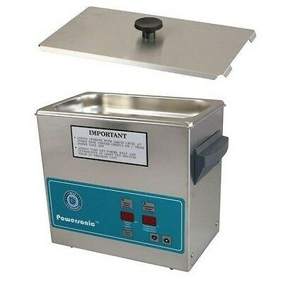 Crest Powersonic Ultrasonic Cleaner 0.75 Gallon Timer & Heat P230H-45 & Basket