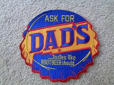 DAD'S ROOT BEER PATCH -NOS- Original - Vintage 7 1/2 X 8 INCHES SODA BOTTLE CAP