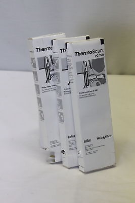 600 New Welch Allyn- Braun Thermoscan PC 200 Probe Covers 3 Boxes