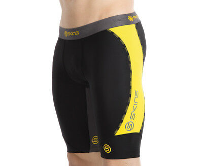 SKINS Men's DNAmic Half Tights - Black/Citron