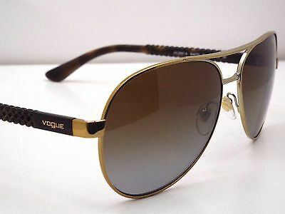 18f65013ea9 Authentic Vogue Women VO3997S 848 T5 Brown Gold Brown Polarized Pilot  Sunglasses