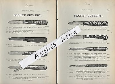 1898 ad advertising vintage POCKET KNIVES Knife Cultery pictures & prices
