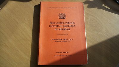 Vin 8 - Regulations For The Electrical Equipment Of Buildings 1966