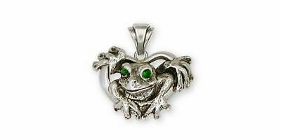Frog Pendant Jewelry Sterling Silver Handmade Frog Pendant FG5-XP