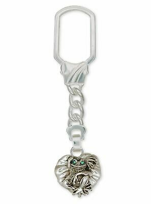 Frog Key Ring Jewelry Sterling Silver Handmade Frog Key Ring FG4-XKR