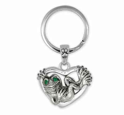 Frog Key Ring Jewelry Sterling Silver Handmade Frog Key Ring FG24-XK