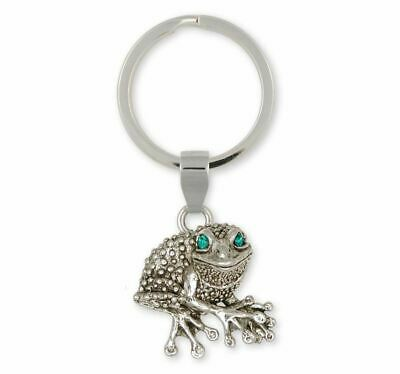Frog Key Ring Jewelry Sterling Silver Handmade Frog Key Ring FG22-XK