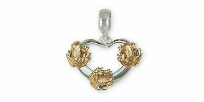 Frog Charm Slide Jewelry Silver And Gold Handmade Frog Charm Slide FG20-TTPNS