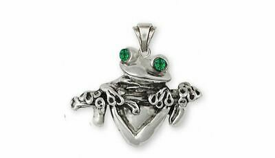 Frog Pendant Jewelry Sterling Silver Handmade Frog Pendant FG2-XP