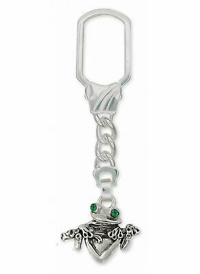 Frog Key Ring Jewelry Sterling Silver Handmade Frog Key Ring FG2-XKR