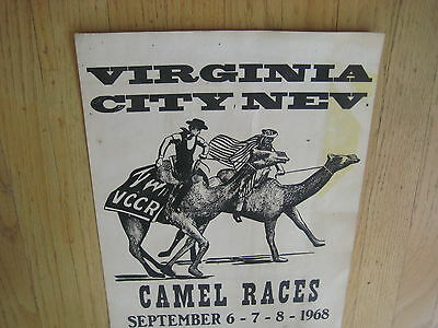FILLMORE POSTER era Virginia City Camel Races 1968