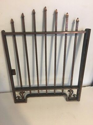 Vintage Antique Brass Teller Cashier Cage Window Early 1900's