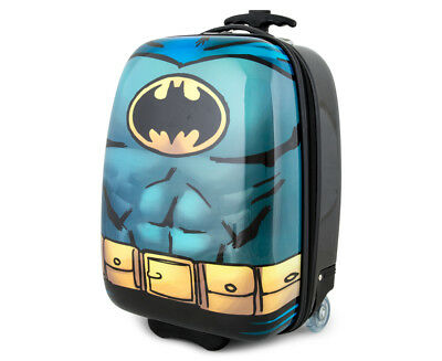 Batman Kids' 47x30cm Hardshell Suitcase - Black/Multi