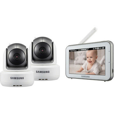 Samsung BrightVIEW Baby Monitoring System in White with 2 Cameras - SEW-3043WND