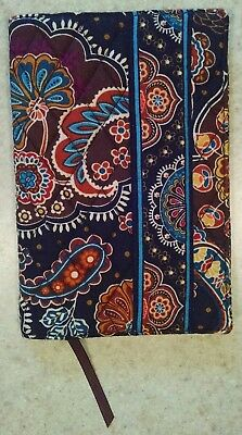 Vera Bradley Paperback Book Cover Kensington NWT Brown Paisley Ribbon Book Mark