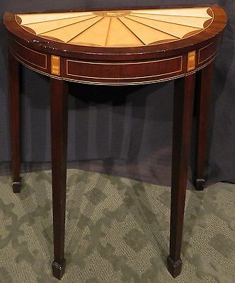 Beautiful Small Hepplewhite Style Demi Lune Table - LOCAL PICKUP & USHIP