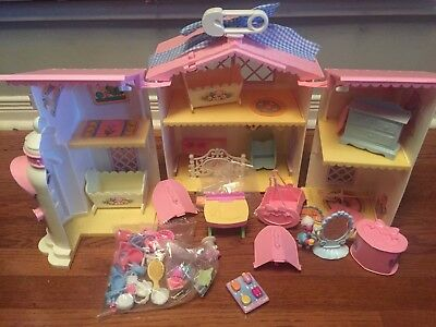 Lot Vintage MLP G-1 My Little Pony LULLABY NURSERY DOLL HOUSE Playset AS-IS