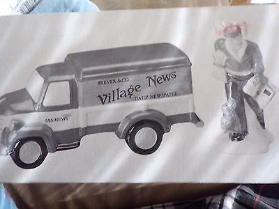 "Dept 56 Snow Village  ""Village News Delivery""  - MINT in Box!"