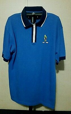 Warner Brothers Studio Store Marvin The Martian Zip Up Polo Size Large