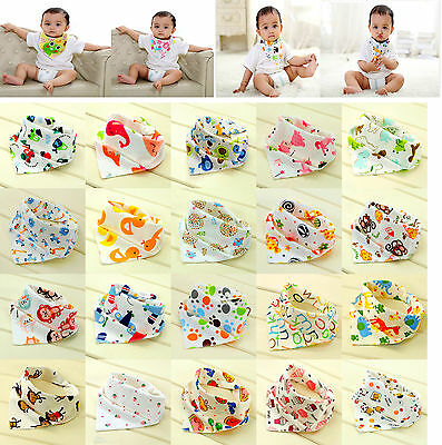 Cute Baby Boys Girls Bibs Saliva Towel Toddler Bandana Triangle Head Scarf