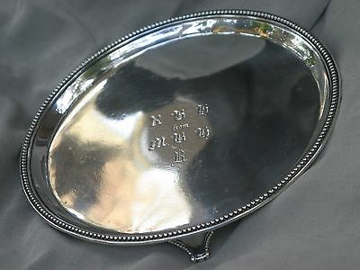 Antique George 111 solid sterling silver salver 1783