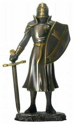 """Summit 6.25""""H Cold Cast Bronze Color Knight of the Cross Figurine with Sword"""