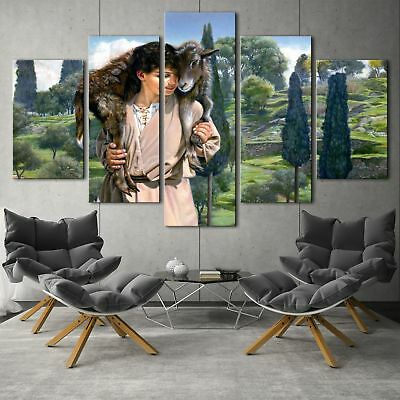 The Lamb of God Painting 5PCS HD Canvas Print Home Decor Picture Wal arl poster