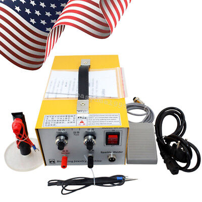 2in1 Pulse Sparkle Spot Welder Gold Silver Platinum Jewelry Welding Machine USA!