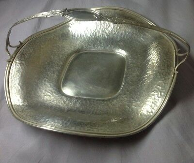 Schmitz Moore & Co Antique Sterling Silver Handled Hand Hammered Dessert Tray