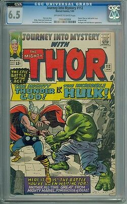 Journey Into Mystery #112 - CGC Graded 6.5 - Classic Thor/Hulk Battle