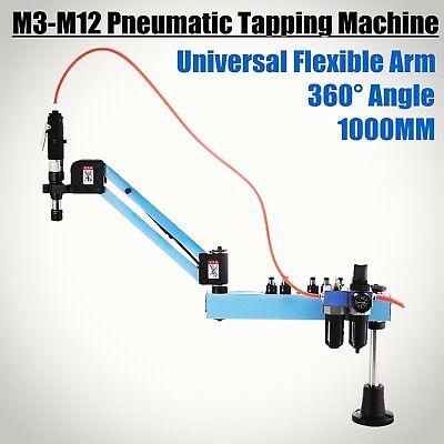 Vertical Pneumatic Tapping Machine Arm 1000mm Collet M3-M12 Motor 38mm