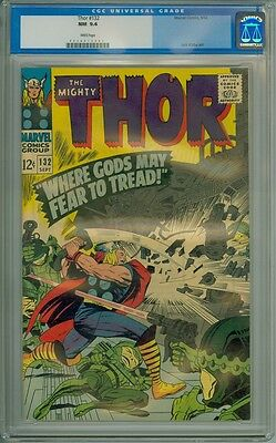 Thor #132 - CGC Graded 9.4 - First Cameo Appearance Of Ego