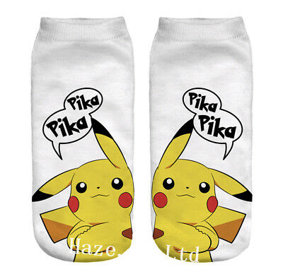 Pokemon Go Pikachu Character Sock Pocket Monsters Women Kid Socks
